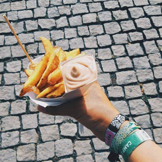 COLOURS of ostrava vegan faency fries hranolky