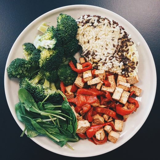 jedlo do práce vegan