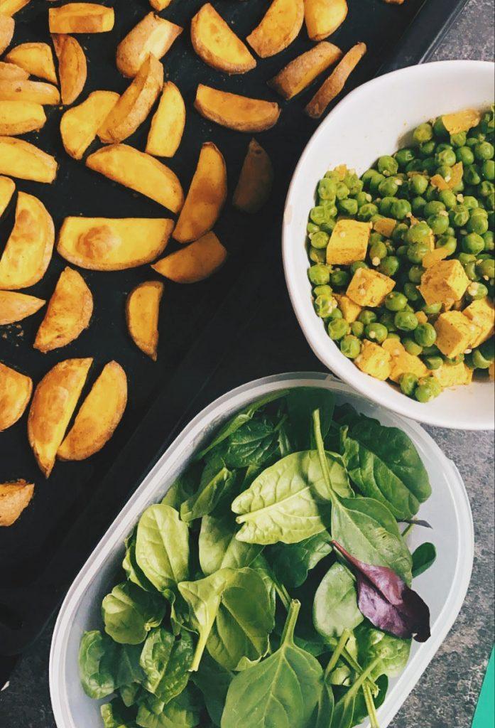 pečené zemiaky vegan jedálníček